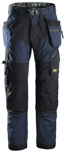 SNICKERS 6902 FLEXIWORK TROUSERS HOLSTER POCKETS 9504 NAVY/BLACK VARIOUS SIZES