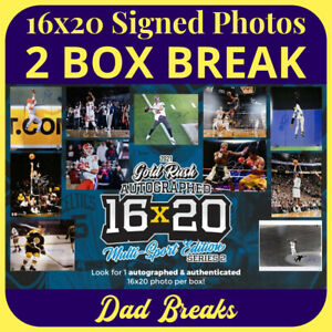OTHER SPORTS PLAYER signed GOLD RUSH MULTI-SPORT 16x20 photo 2 BOX LIVE BREAK