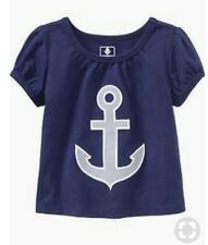 Girl's Old Navy Shirts  anchor applique Size 18-24 Months