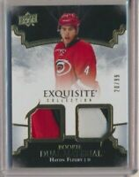 2017-18 Exquisite Rookie Dual Material Patches Haydn Fleury /99 Hurricanes