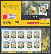 Bund Markenheftchen 61 gest. Blumen 2006 Narzisse Vollstempel Weyhausen