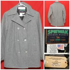"""SPIEWAK Peacoat with Crystal Flower Buttons NWT $360 MSRP Sz 34 20.5"""" Pit2Pit"""