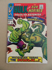Tales To Astonish 91 .The Abomination .  Marvel 1967 . FN