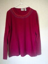 Women's KORET City Blues Top/Shirt - Size Large - Maroon