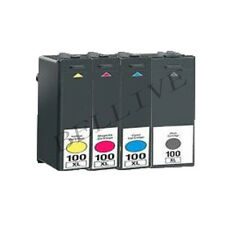 4 CARTUCCE 100XL PER LEXMARK  Pro905 Pro805 Pro705 Pro205 S605 S505 S405 S305