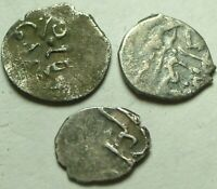 Lot of 3 original Islamic silver akce akche coins Ottoman Empire Sultan Mid east