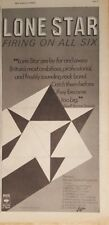 Lone Star Firing on all six tour 1977 press advert 18 x 38 cm poster