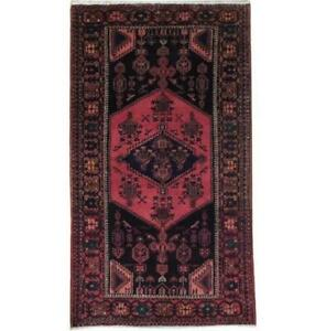 Tribal rug 4x7 Black Hand Knotted Semi-Antique Rug B-71260