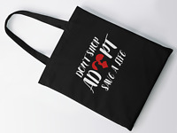 Don't Shop Adopt Save A Life Tote Bag Dog Cat Lover Gift Shopping Reusable Bag