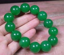 CHINESE Green JADE Bead Beads Bangle Bracelet 16 mm 282999
