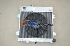 Aluminum radiator for BMW E30 M10 316i 318i 1982-1991 Manual + FAN