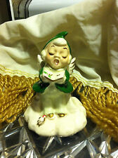 Nice Vintage Angel Bell Figure Singing with Song Book In Hand