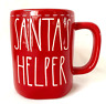 """SANTA'S HELPER""     CHRISTMAS Red Mug -  RAE DUNN Holiday"