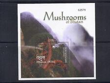 Bhutan Musrooms Champignons Souvenir Blatt VF MNH