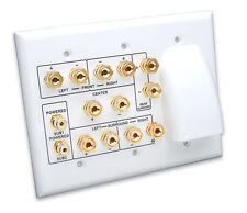 Whole House Audio and 6.2 Home Theater Wall Plate (Vanco HTWP62BW)