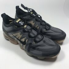 Men's Nike Air Vapormax 2019 Running Shoe Black Metallic Gold AR6631-002 Size 13