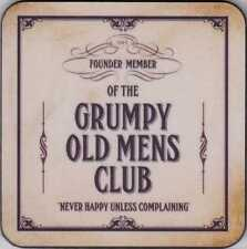 """New coaster set of 6 """"Founder Member of the Grumpy Old Mens Club"""""""