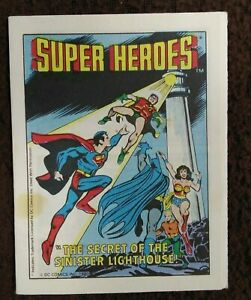 SUPER HEROES SECRET OF THE SINISTER  LIGHTHOUSE POST CEREAL MINI COMIC 1980