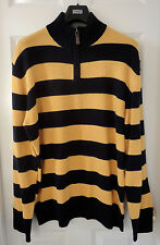 M&S Blue Harbour Extrafine Pure Lambswool Wide Striped Jumper, XL, BNWT