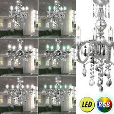 LED lustre RGB télécommande cristal plafonniers chrome lustre suspendu moderne