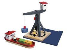 Parkhaus Flughafen Hafen Schienen Kombinierbar Echtholz Kinderspielzeug