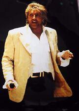 Photo of Rod Stewart in concert original 17.5 x 12 inches by Mel Longhurst
