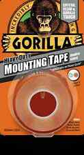 GORILLA Mounting Tape   1.5 m Heavy Duty Double Sided Waterproof  Clear