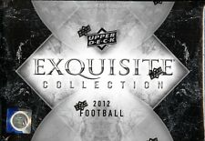 2012 Upper Deck Exquisite Football Factory Sealed 3 Box Hobby Case