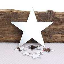 Star Wall Mirror for Bedroom Bathroom Kitchen Living Room & Sticky Pads