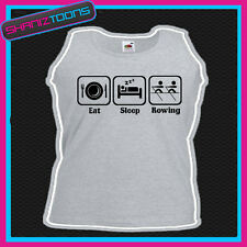 Eat Sleep Rowing Rower Row Vest Top