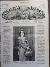 L'UNIVERS ILLUSTRE 1874 N 1004  SALON DE 1874: LA PETITE MARCHANDE DE PIGEONS