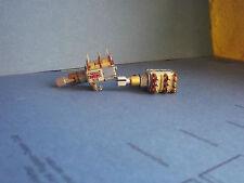 1 x Zweifach-Potentiometer ALPS 250KWX2 und 200KDX2 mit Schalter, Typ 423r, neu