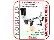 NEW GX Microscopes ST50A Stereo Microscope,Binocular Head 20x Mag. Mobile Repair