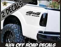 4x4 Truck Bed Decals, MATTE BLACK (Set) for Ford F-150, Super Duty, F-250 etc.