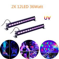2X UV 12LED 36W BAR Schwarzlicht Party DJ Wall Washer Bühnenbeleuchtung Disco