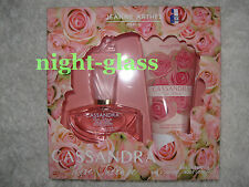 "COFFRET EAU DE PARFUM+LAIT JEANNE ARTHÈS ""CASSANDRA ROSE INTENSE"" MADE IN FRANCE"