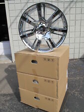 "22"" CADILLAC ESCALADE FACTORY STYLE CHROME WHEELS RIMS 4738 SET OF 4"