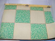 Alte Boden-Tapete-50er Jahre-Design-Bogen Musterbuch-Puppenhaus-Puppenstube