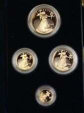 2005 U.S. Mint American Gold Eagle AGE 4 Coin Proof Set as Issued with Box & COA