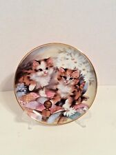 Franklin Mint Heirloom Limited Edition Plate #La3473 Kitten Country Brian Walsh