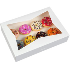 15 Pack Paperboard White Lock Corner Window Bakery Box 14 X10 X 3inch Large Con