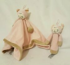 TEDDY KOMPANIET Cat Babies Comforter Blanket and Baby Rattle - Pink