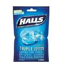 Halls Mentho-Lyptus Drops, Ice Peppermint 30 ea (Pack of 2)