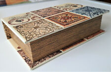 Brand New Small Decorative Book Box Wood Construction Free Shipping