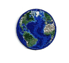 Earth - World - Planet - Earth Day - Embroidered Iron On Patch - A