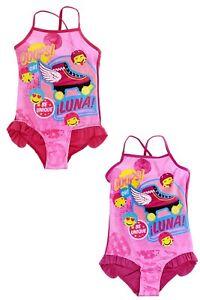 Soy Luna Badeanzug Mädchen Disney Bademode Pink Violett 116-152 NEU