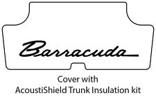 1970 1974 Plymouth Barracuda Trunk Rubber Floor Mat Cover with ME-028 Barracuda