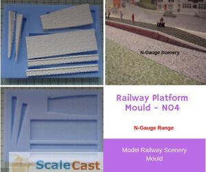 N-Scale PLATFORM Mould for Model Railway scenery - N04 - N Gauge Model Scenery