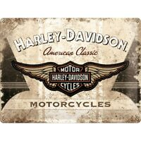 Blechschild HARLEY DAVIDSON Classic 30x40cm gewölbt geprägt Biker Schild NEU USA