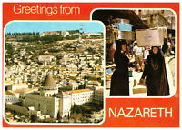 Greetings from Nazareth Israel, Palestine Rare Multiview Postcard 30th June 1979